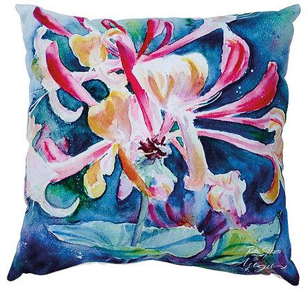 Honeysuckle - August flower of the month cushion