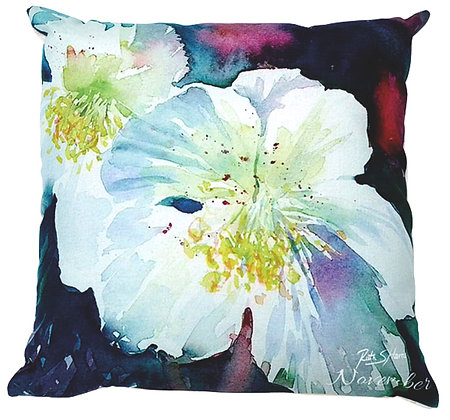 Hellebore - November flower of the month cushion