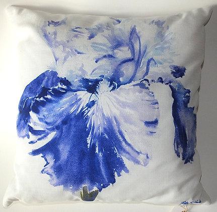 Blue Iris cushion