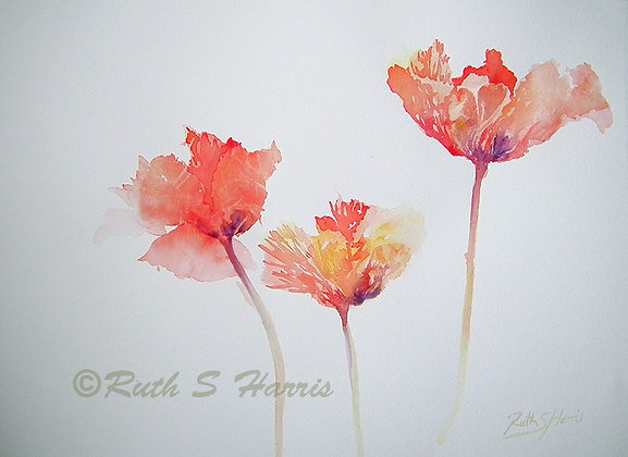 Three of a Kind - Original watercolour
