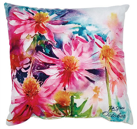 Echinacea - October flower of the month cushion