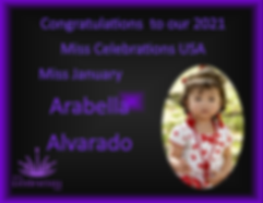 2020 MCUSA Calendar Queen Arabella Alvar