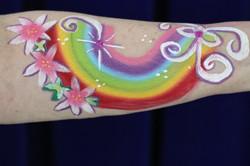 Face Painting Rainbow Arm 2