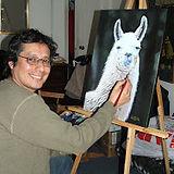 Walter Ventisilla pintando.jpg