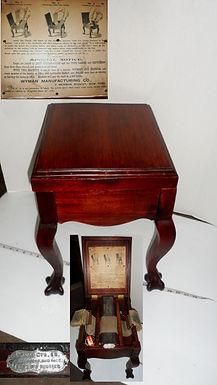 Unusual Shoe Shine Box by Wyman Manufacturing