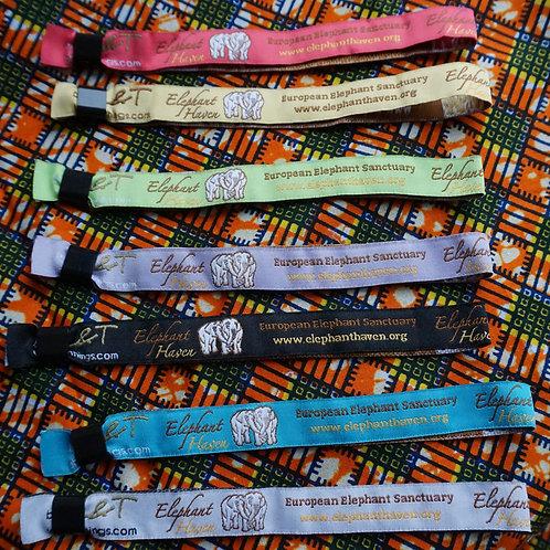 Bracelet tissu Elephant Haven