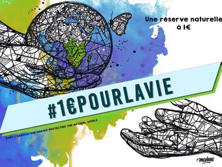 1€ pour la vie : aidez-nous à créer une réserve naturelle !