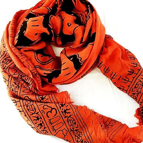 Écharpe foulard Éléphant