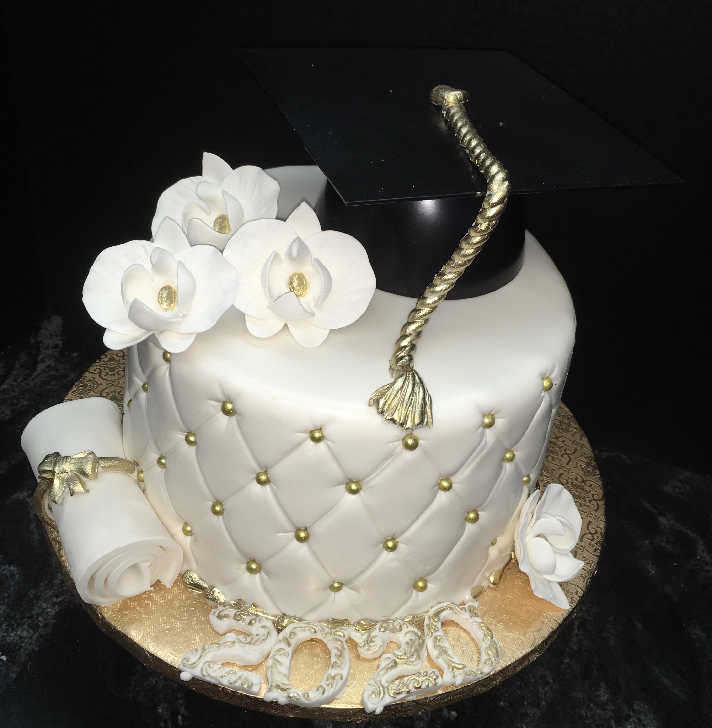 Orchids Grad Cake