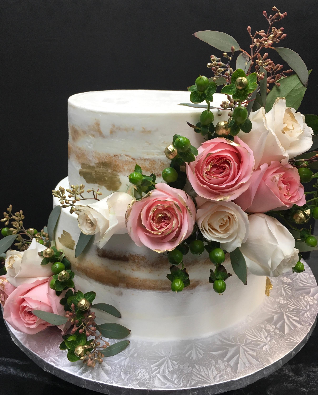 Fresh Flowers Naked Cake