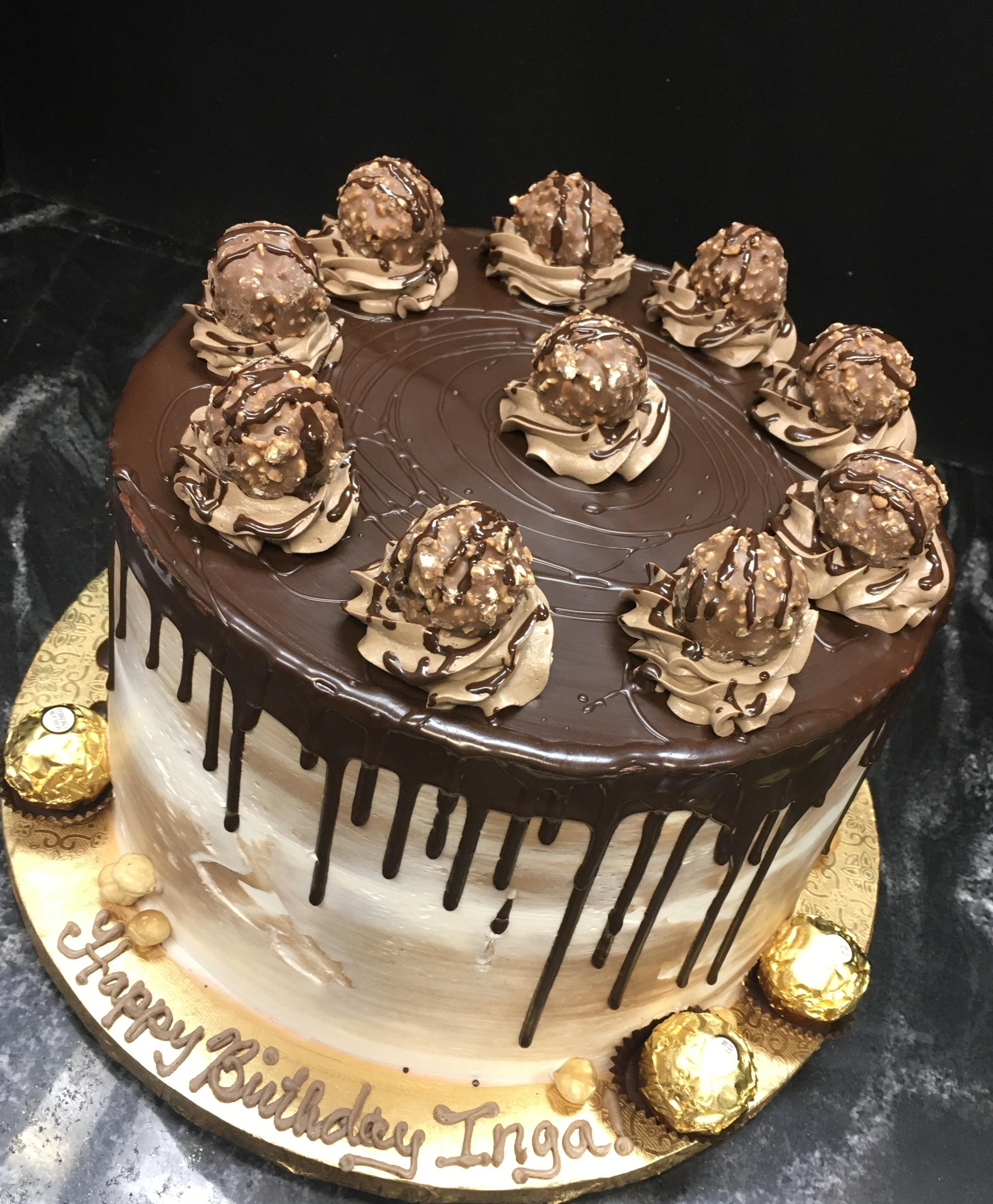 Chocolate Hazelnut Drip Cake