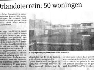 Orlandoterrein: 50 woningen