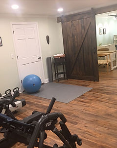 Gym and door to treatment room