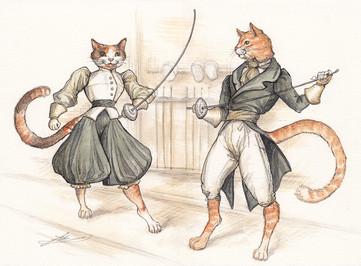 Fencing Cats