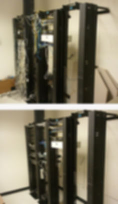 Data Network rack with VOIP phone system IP Camera system and cat6 wire