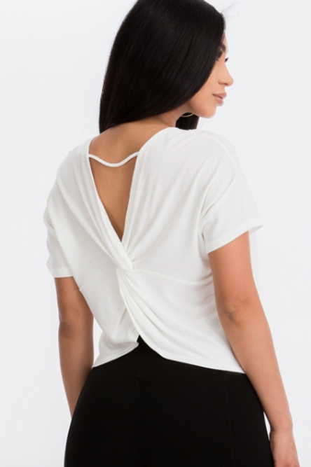Get Twisted Top - White