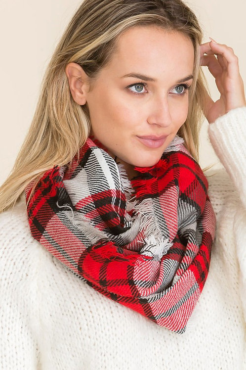 My Favorite Tradition Scarf - Red Mix