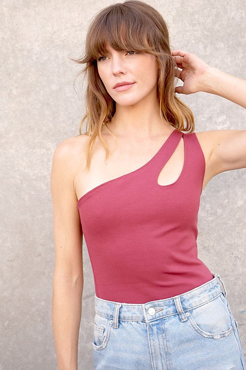 Major Flirt Bodysuit - Cranberry