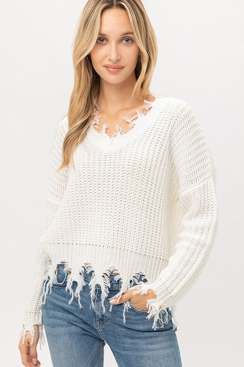 The Cozy Cool Sweater - Ivory