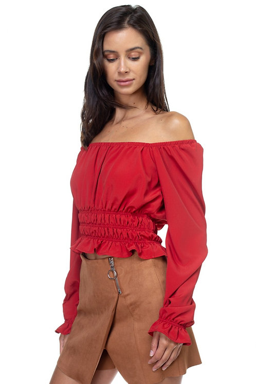 Holiday Feels Blouse - Red