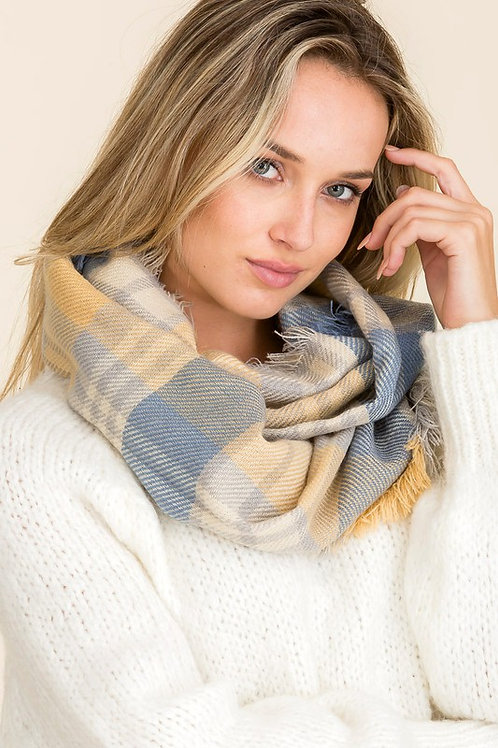 My Favorite Tradition Scarf - Sky Blue Mix