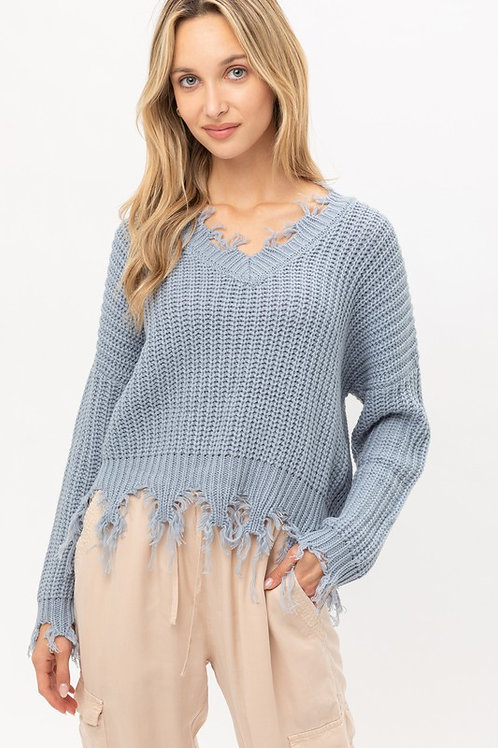 The Cozy Cool Sweater - Light Blue