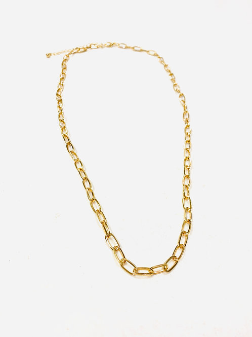 Large Linked Chain Necklace