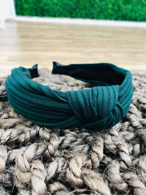 Deep Green Knot Headband