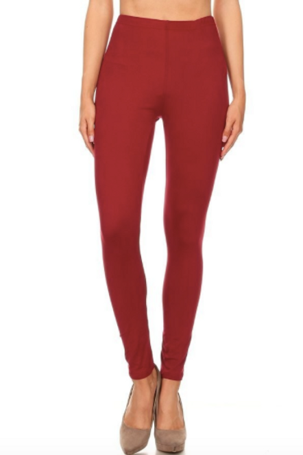 Lounge With Me Leggings - Burgundy