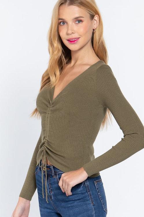 Something Sweet Sweater - Olive