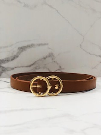 Camel Double Ring Belt - Thin