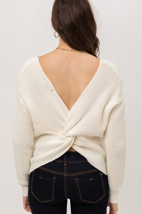 Love Me Knot Sweater - Ivory