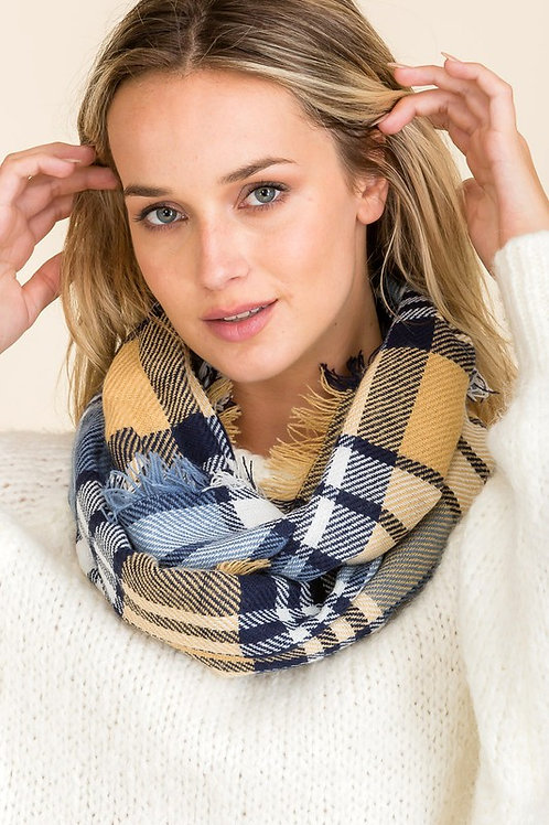 My Favorite Tradition Scarf - Navy Blue Mix
