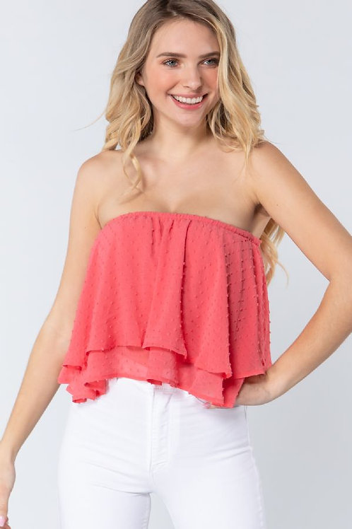 The Real Love Crop Top - Coral