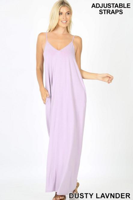 Sweetheart Maxi Dress - Dusty Lavender