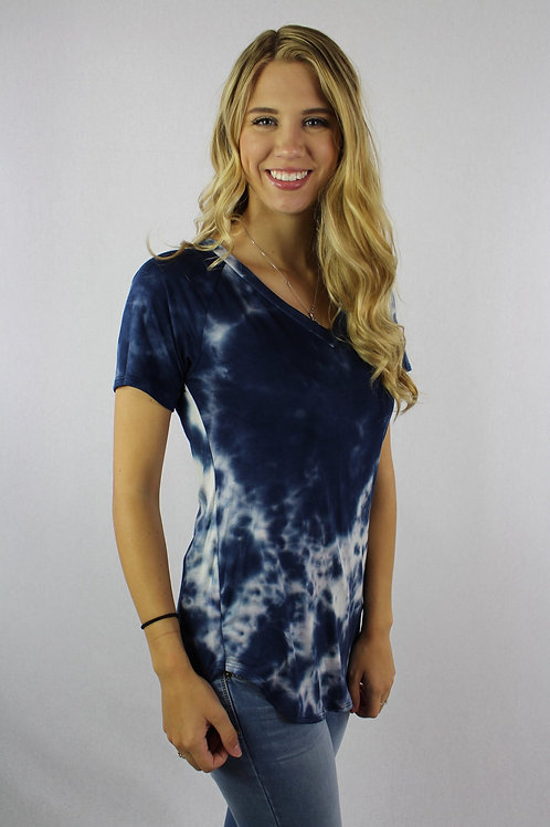 Hard To Miss Me Top - Navy Mix