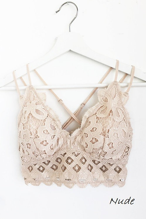 Wild At Heart Bralette - Nude