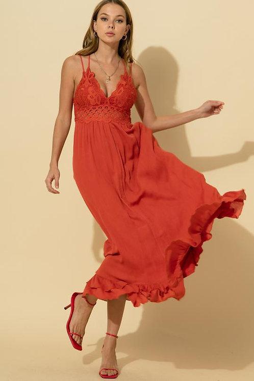 Wild At Heart Maxi Dress - Burnt Orange