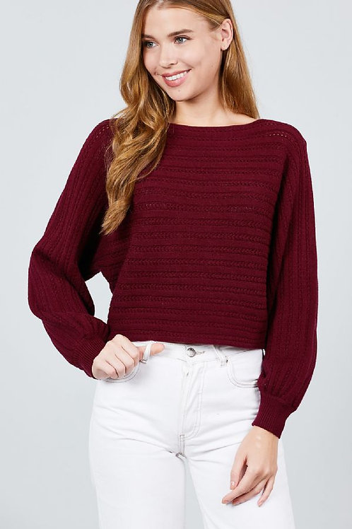 Miss Chanel Sweater - Burgundy