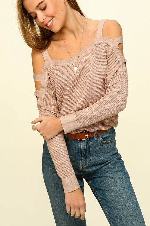 Cut It Out Sweater - Taupe
