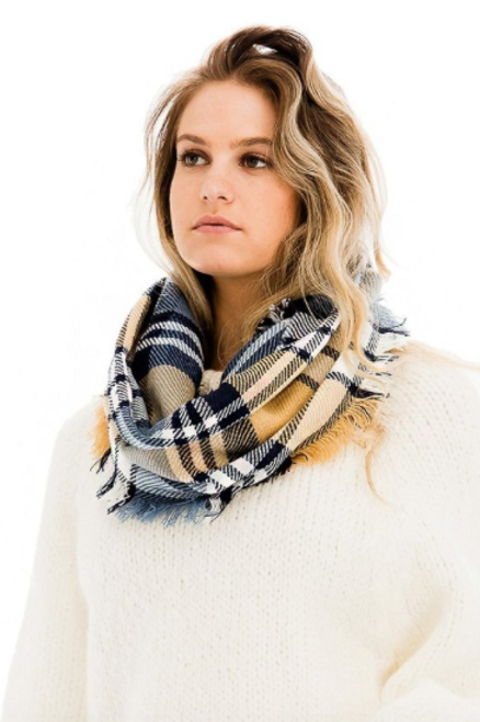 Wind Chill Scarf - Blue/Yellow