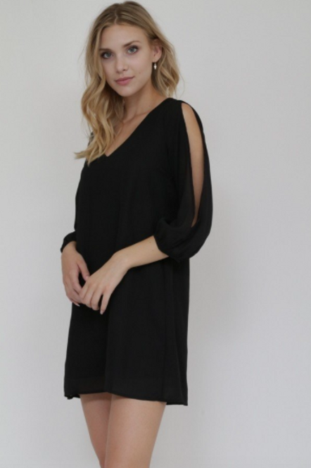 A Classic Occasion Dress - Black