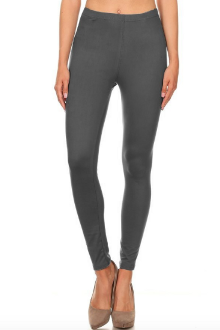 Lounge With Me Leggings - Charcoal