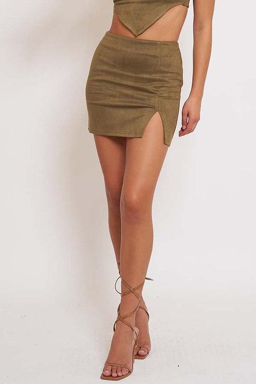 The Luna Skirt - Olive