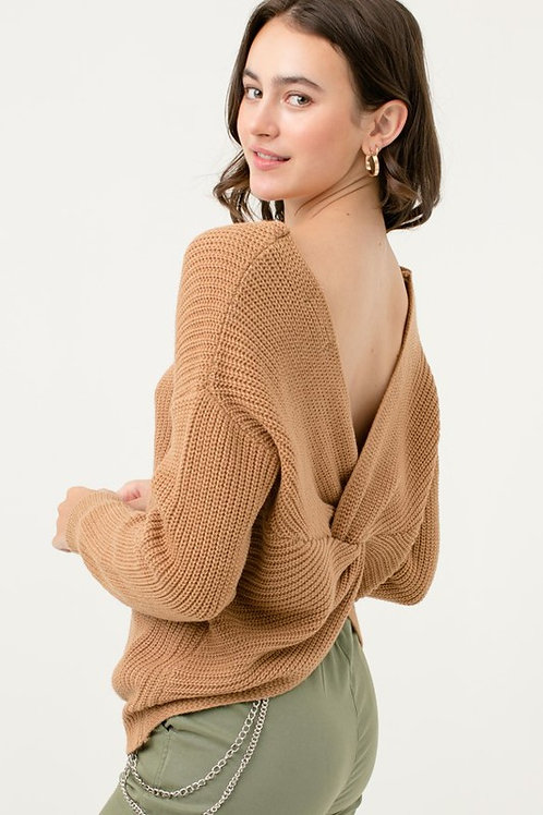 Love Me Knot Sweater - Camel
