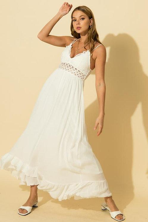 Wild At Heart Maxi Dress - White