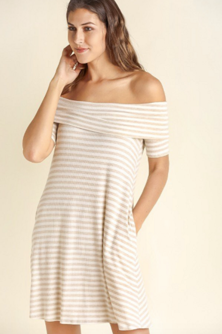Let's Taupe About It Swing Dress