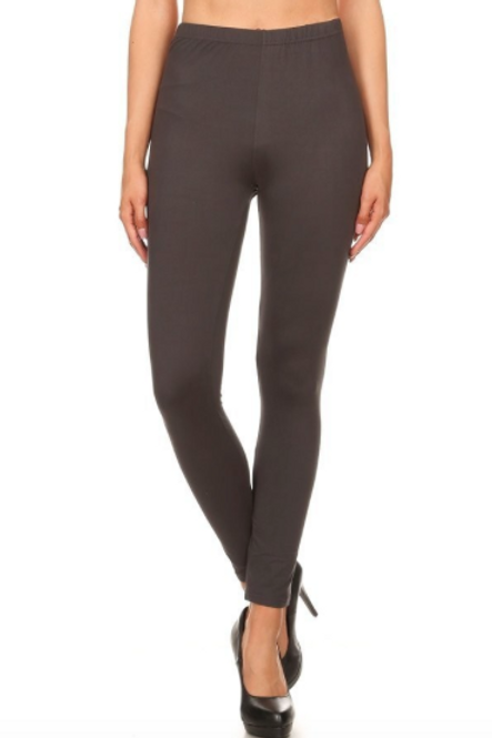 Lounge With Me Leggings - Brown