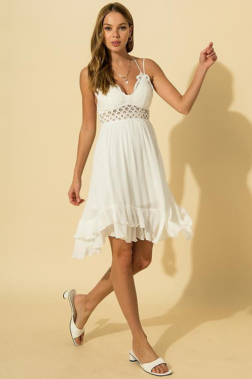 Wild At Heart Bralette Dress - White