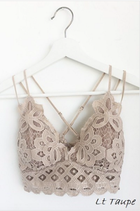 Wild At Heart Bralette - Lt. Taupe
